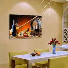 Unframed HD Canvas Print Home Decor Wall Art Painting Picture Food Wine