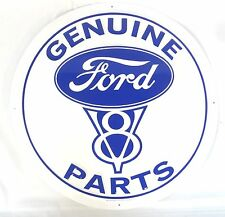 """Genuine Ford V8 Parts  24"""" Tin Sign Embossed Metal Hot Rod Model A Racing Speed"""