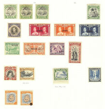 NIUE MINT SELECTION KING GEORGE 6th CORONATION SET + OTHERS 18 STAMPS