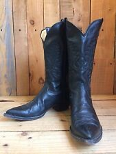 vtg PANHANDLE SLIM leather WESTERN cowboy BOOTS size 7 BIKER hippy ROCKSTAR