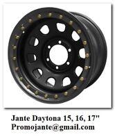 Jantes  4x4  à prix discount superbe Daytona de 15 à 17 pouces et pneus