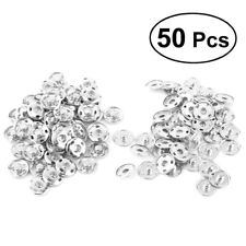50 Sets Sew On Snaps Buttons Metal Snaps Fasteners Press Craft Accessory