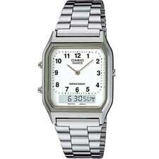Casio Mens Classic Combi Wrist Watch With Numeric Digits - Silver Aq230a7bmq