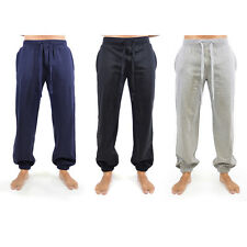 Tom Frank Mens Fleece Jogging Pants Jersey Elastic Cuff Trouser Training Bottoms