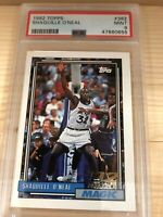 Shaquille O'Neal 1992-93 Rookie Topps #362 **FRESHLY GRADED*** (PSA 9)