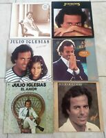 Bundle Joblot of Julio Iglesias Vinyl Record LP's 6 Albums Included with Sleeve