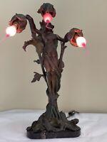 Antique Art Nouveau Bronze Spelter French Figural Lady Lamp