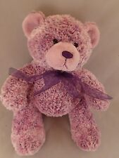 Build A Bear Purple Lavender Sherbert Bear with Bow ~Very Good to Ln Condition~