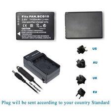TWO Battery +Charger for Panasonic Lumix DMC-TZ20 / DMC-TZ22 / DMC-TZ25 DMC-FS8