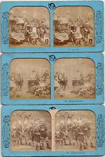 6 Stück French Tissue Stereokarten Kinder, spielen, Spielzeug um 1860 Original