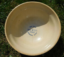 "Vtg RED WING Advertising SPONGEWARE 8.5"" Mixing Bowl THE MODEL STORE Inwood IOWA"