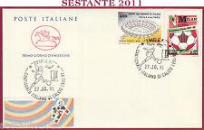 ITALIA FDC CAVALLINO CAMPIONATO ITALIANO DI CALCIO SERIE A 1991 BARI T780
