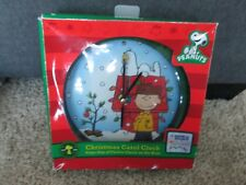 Peanuts Christmas Carol Clock NEW IN BOX Charlie Brown Snoopy Musical