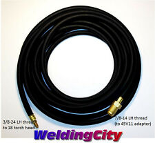 TIG Welding Power Cable/Water Hose 40V64R Rubber 12.5' 350A Torch 18   US Seller
