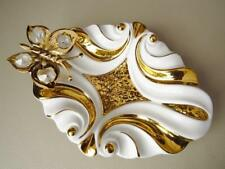 Vintage Italian Porcelain & Gold Butterfly Dish
