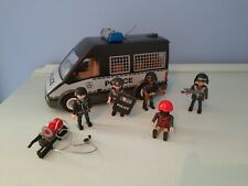 Playmobil cith action police van light and sound bundle 1 back door missing