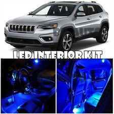 For 2014-2017 Jeep Cherokee SUV LED Light Bulb Xenon Blue Interior Package Kit