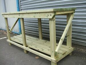 New hand made 4FT UPTO 8FT solid heavy duty, wooden work bench table