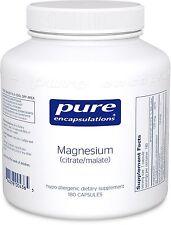 Pure Encapsulations Magnesium (citrate/malate) 180 Caps
