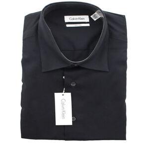 Calvin Klein Dress Shirt Men's CK Non-Iron Dobby Long Sleeve Dress Shirt