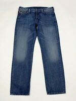 Diesel jeans rayan uomo usato straight fit W38 L34 tg 52 denim boyfriend T6148