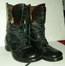 US Military EJ Vintage  9.5 W Endicott Johnson Black Boots