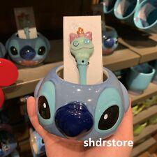 SHDR Stitch mug cup scrump spoon shanghai disney disneyland exclusive