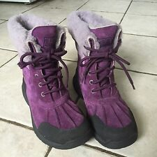 AUTHENTIC UGG AUSTRALIA BUTTE S/N 1001674  DEEP PURPLE BOOTS YOUTH SIZE 5