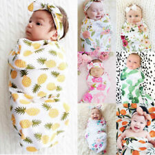 Newborn Baby Infant Photo Props Cotton Swaddle Muslin Blanket Wrap Swaddling