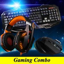 ARES K3 3 Illuminated Gaming Keyboard G2000 Orange Headset 3200DPI Mouse Combo