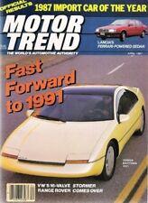 MOTOR TREND 1987 APR - GNX, SHELBY LANCER, GTI, TALBOT