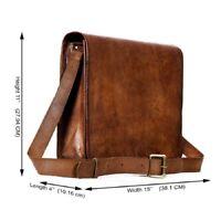 Bag Leather Men Handmade Shoulder Briefcase Messenger Business S Laptop Satchel