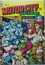 MOTOR CITY COMICS #2 1ST PRINT VF 8.0 RIP OFF PRESS 1970