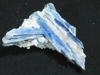 A Big! Nice & 100% Natural BLUE KYANITE Crystal Cluster in Quartz! Brazil 161gr
