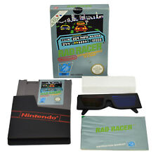 Rad RACER NINTENDO NES Game Complete Boxed Manual Y Gafas 3D ORIGINAL PAL UKV
