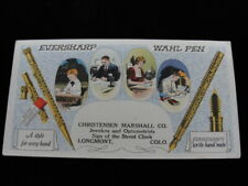 "Early 20th Century Advertising Blotter ""Eversharp Wahl Pen"""