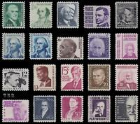 1278-1295 Prominent American Sheet Stamps 1966-79 Complete Set 20 MNH - Buy Now