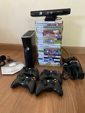 HUGE Microsoft Xbox 360 S 250 GB BUNDLE W/ Kinect + Four Controllers & 26 Games