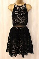 ASOS Premium Strappy Velvet Lace Fit Flare Cami Evening Prom Party Dress 12 - 16