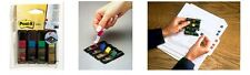 3m Post-it Index Flags 12mm 140 Tabs 4 Assortd Colours 683-4 AC