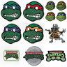 Teenage Mutant Ninja Turtles Patches TMNT Embroidered Iron on Badges Costume New