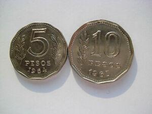 Argentinien - 5 Pesos 1964 und 10 Pesos 1963
