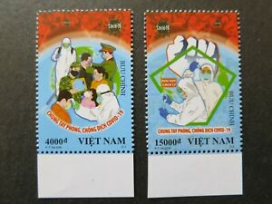 Vietnam 2020 - ANTI NCOVI Fight The Virus / Complete Set of 2 Stamps - VF, MNH