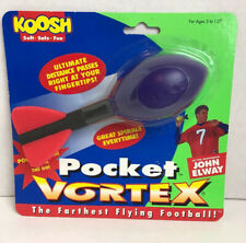Koosh Pocket Vortex OddzOn Spiral Flying Football John Elway Small Purple/Red