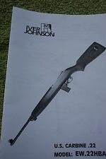 Erma Werke Iver Johnson 22 Cal Carbine Manual - Small owners type manual