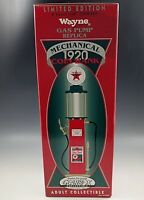 "GEARBOX 1920 TEXACO WAYNE GAS PUMP MECHANICAL COIN BANK DIE CAST LE. OF 5000 15"""