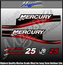 MERCURY - 25 hp - DECAL SET - OUTBOARD  DECALS