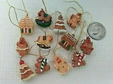 Dollhouse Miniatures Tiny Vintage Christmas Gingerbread Decorations 1:12 scale