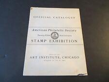 August 25-27,1911 Aps 25th Anniversary Exhibition Catalog Chicago Art Institute