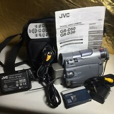 JVC GR-D50AA Digital Video Camera Lot 2xbatteries R/C AC Adapter+ 3xcables+bag